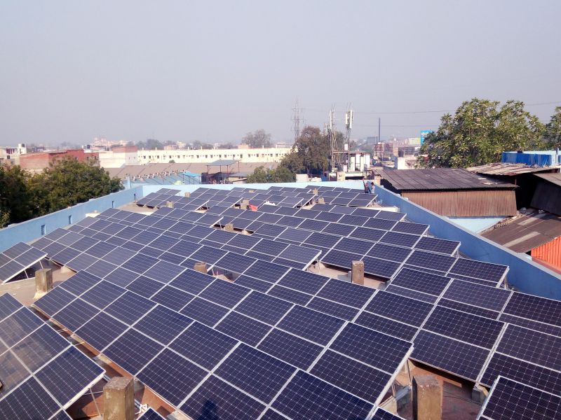 110KWP ROOFTOP GRID TIED SOLAR SYSTEM