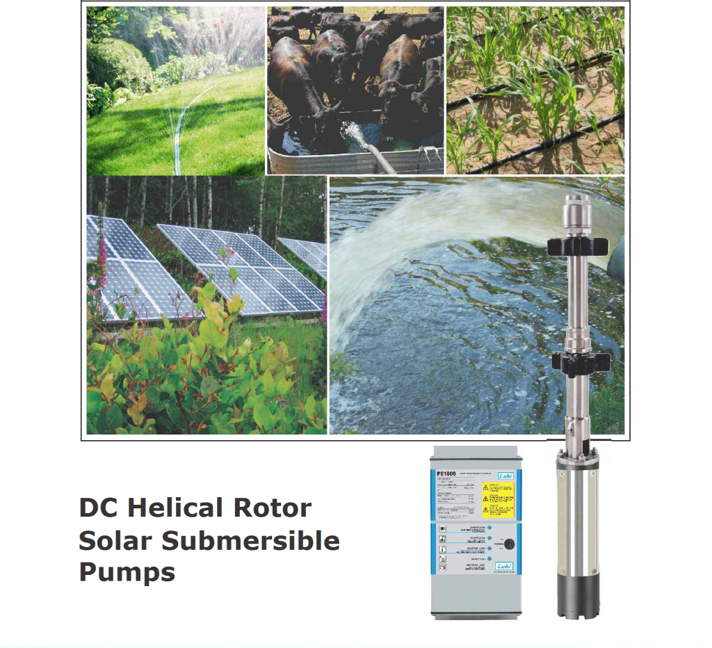 DC Helical Rotor Solar Submersible Pumps